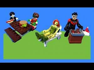 Imaginext Nightwing and Poison Ivy Memorial Day Holiday Cookout Toy Video