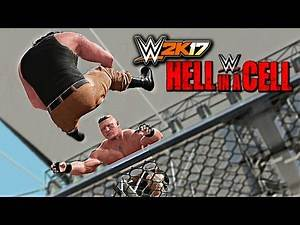 WWE 2K17 - Brock Lesnar vs Braun Strowman Hell In A Cell Match W/DAYTIME ARENA (PS4 & XBOX ONE)