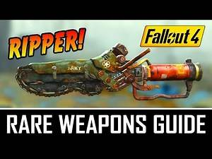 FALLOUT 4 - THE RIPPER- RARE/UNIQUE WEAPONS GUIDE - Best Fun Factor Melee Weapon