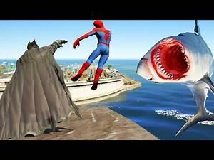 GTA 5 Water Ragdolls | SPIDERMAN Vs Batman (Euphoria physics/Funny Moments)