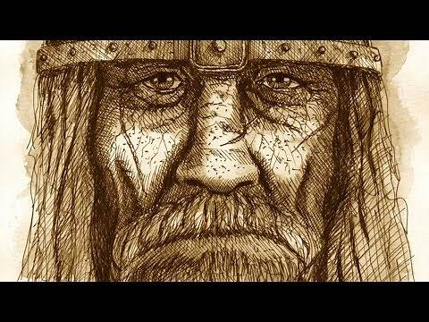 Fierce old Viking (ink drawing in time lapse)