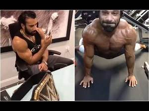 WWE Champion Jinder Mahal's suprise calls and his intense training