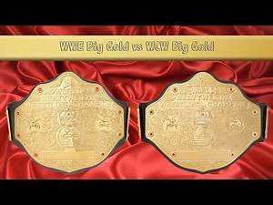WWE Big Gold vs WCW Big Gold (4 mm versions)