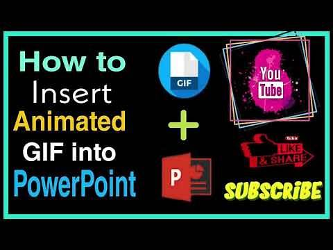 HOW TO INSERT ANIMATED GIF INTO POWERPOINT PRESENTATION | METHOD OF CREATING PPT MORE ATTRACTIVE