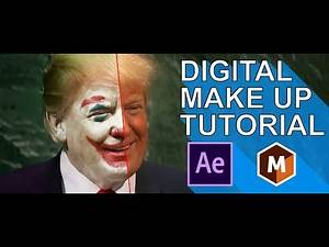 Donald Trump is the Joker: Digital Make up & Motion Tracking Tutorial with Mocha for After Effects
