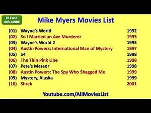 Mike Myers Movies List