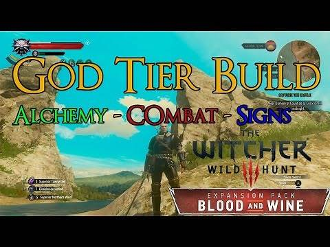 The Witcher 3 - God Tier Build - Alchemy, Combat, & Signs