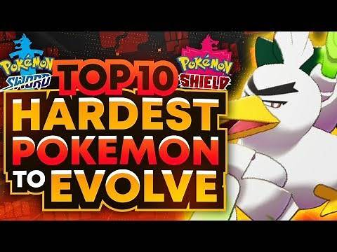 Top 10 Hardest Pokemon to Evolve in Sword and Shield