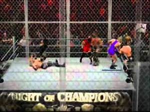 WWE SmackDown vs RAW 2011 Gameplay Hell in cell