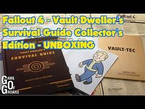 Fallout 4 Vault Dweller's Survival Guide Collector's Edition Strategy Guide - UNBOXING / QUICK LOOK