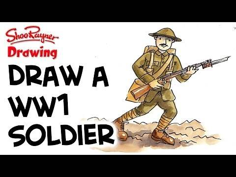 How to draw a WW1 British Soldier