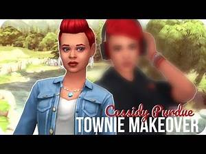 CASSIDY PURDUE | Sims 4 Townie Makeover