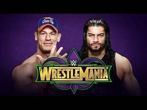WWE 2K17 Wrestlemania 34 - Roman Reigns vs John Cena Full Bloody Match W/DAYTIME ARENA