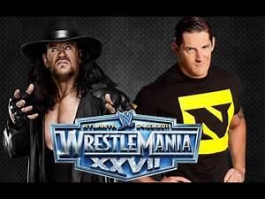 Matches That Almost Happened: WrestleMania XXVII: Wade Barrett {Nexus} vs The Undertaker