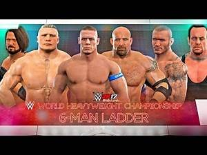 WWE 2K17 John Cena vs Randy Orton vs Brock Lesnar vs Goldberg vs Undertaker vs AJ Styles   WWE MITB