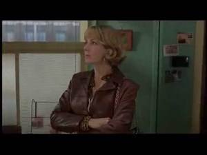 British Comedy (Blow Dry) with Lady in Leather (black pants, red jacket)