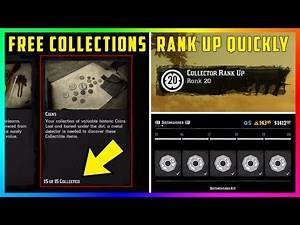 How To Get Complete Collections For FREE & Rank Up Quickly As The Collector Role In Red Dead Online!