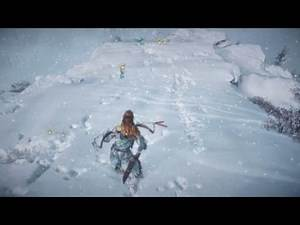 Best snow physics EVER   Horizon Zero Dawn