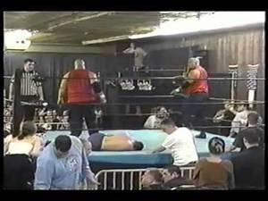 Wrestling Death Bumps Thrown Into Walls! Jersey All Pro Wrestling Action