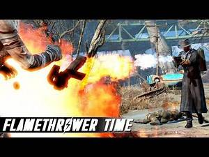 Fallout 4 Mods - Flamethrower / Elemental Cannon and More!