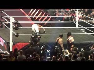 WWE RAW 9/11/15 Kane & Undertaker Entrance,Manchester,UK