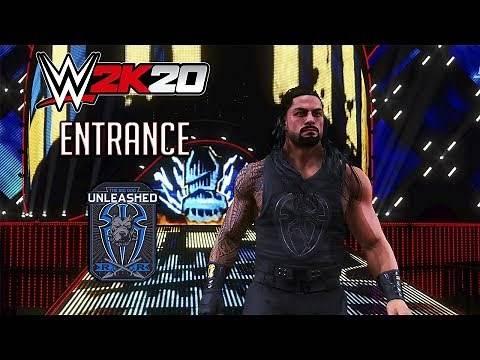 WWE 2K20 Roman Reigns Entrance - Wrestlemania 34