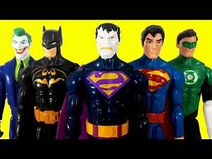 DC Super Heroes Batman, Superman, Reverse Flash, Bizzarro, Green Lantern, Joker, Electric Superman