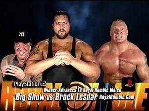 WWE2K16 Royal Rumble 2003 Brock Lesnar Vs Big Show