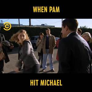Comedy Central UK - When Pam Hit Michael   The Office US