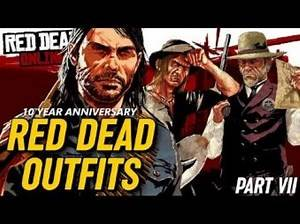 RED DEAD OUTFITS: 10 Year Anniversary of Red Dead Redemption (2010) RDR Outfits