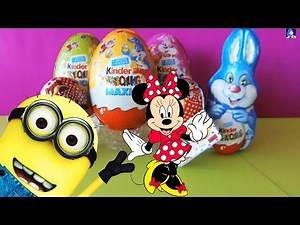 Kinder Surprise Maxi Eggs ♥ Easter Collection ♥ Minni Mouse Minions Polly Pocket
