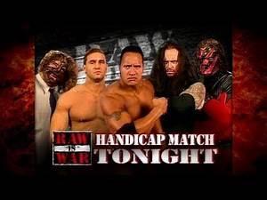 The Undertaker & Kane vs The Rock, Mankind & Ken Shamrock 3 on 2 Handicap Match 1/2 9/28/98