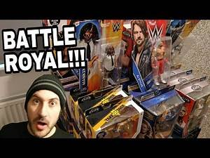 WWE BOXED MATTEL FIGURE BATTLE ROYAL!!!