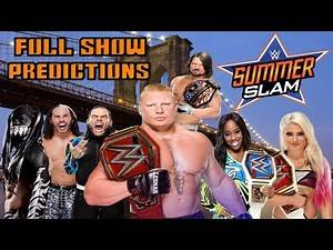 WWE Summerslam 2017 Full Show Predictions & Highlights