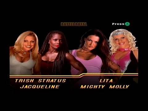 WWE WrestleMania X8 - 4 Divas Battle Royal