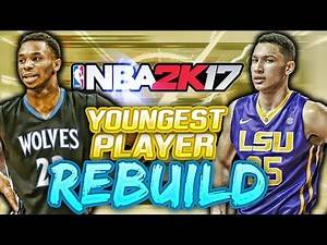 NBA 2K17 MY LEAGUE: YOUNGEST PLAYER REBUILD CHALLENGE!! RUSSELL AND PORZINGOD!!