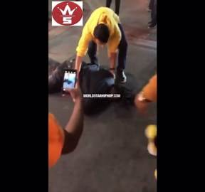 """Damn: Dude Gets Knocked Out For Talking Trash! """"Thats What I Do"""""""