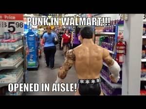 WWE ACTION INSIDER: CM Punk Walmart aisle Superstars wrestling figure Mattle Basic figures