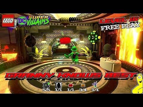 Lego DC Super-Villains: Level 16 / Granny Knows Best FREE PLAY (All Collectibles) - HTG