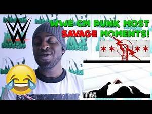 WWE CM Punk Most Savage Moments! REACTION!!