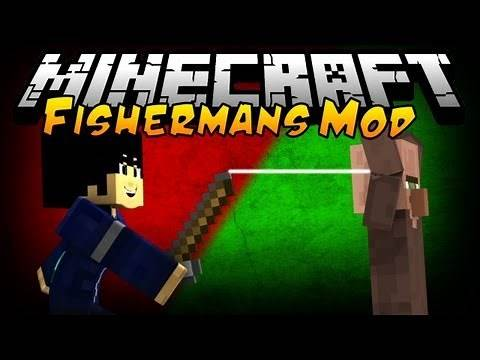 """""""FISHERMAN MOD for MINECRAFT"""" - BEST FISHING RODS EVER!"""