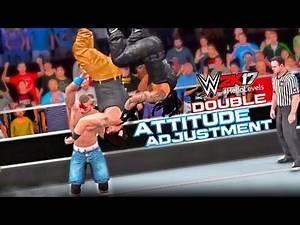 WWE 2K17 John Cena vs Roman Reigns vs Braun Strowman   Triple Threat Match - PS4 Gameplay