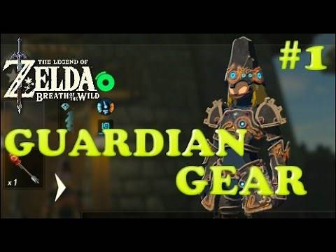How To Get GUARDIAN WEAPONS AND ARMOR Part 1 - Zelda Breath of the Wild