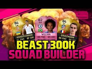 Fifa 16 Amazing Sweaty & Overpowered 300k Squad Builder Ultimate Team