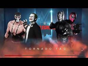 WWE 2K18 Joker,Bane VS Black Panther,Deadpool Requested Tornado Tag Elimination Match