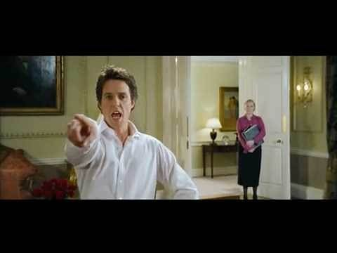 "Hugh Grant's hilarious dance scene in the movie ""Love, Actually"""
