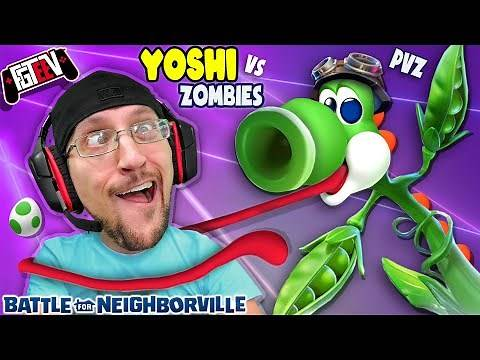 Plants Vs Zombies Indoor SNOWBALL FIGHT for Neighborville! + FGTEEV Yoshi Crafted World