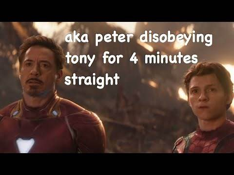 Peter Parker and Tony Stark being father and son for 4 minutes straight