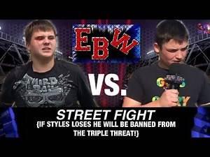 EBW: {STREET FIGHT!} Undisputed EBW Champion, Gavin Styles vs. RJ
