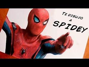 TE DIBUJO A SPIDERMAN (Spiderman Homecoming) | Speed Drawing